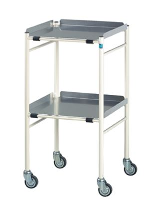 Picture of Halifax Surgical Trolley With Alluminium Shelves (460X460mm)