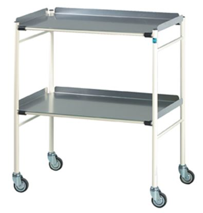 Picture of Halifax Surgical Trolley With Alluminium Shelves (765X460mm)