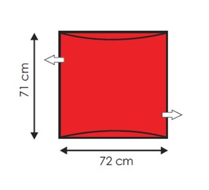 Picture of Andway Compact Slide Sheet - Red - 72 x 71cm