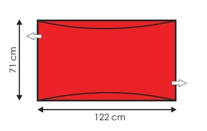 Picture of Andway Standard Slide Sheet - Red - 122 x 71cm