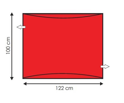 Picture of Andway Wide Slide Sheet - Red  - 122 x 100cm