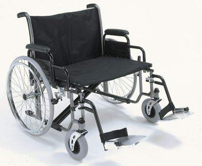 """Picture of Bariatric Wheelchair det.arms swing away F/rests 66cm(26"""")"""