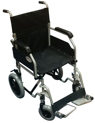 Picture of VEGA Steel Transit Wheelchair with folding back rest