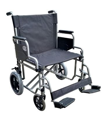"""Picture of THETA Steel Bariatric Transit Wheelchair 180kg 24""""Seat Width"""