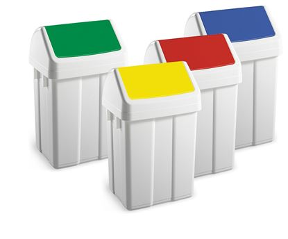 Picture of Swingtop Bins 50 Ltr - Yellow Lids