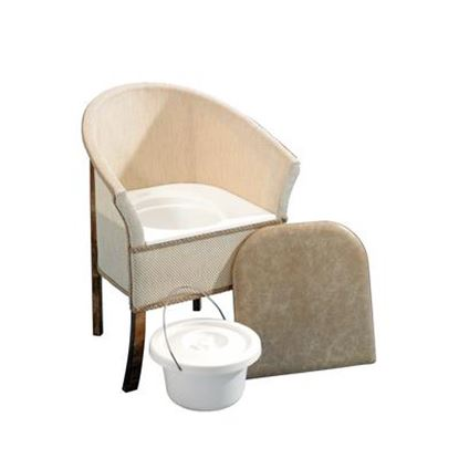 Picture of Basket Weave commode chair