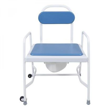 Picture of Bariatric adj ht stacking commode with det arms
