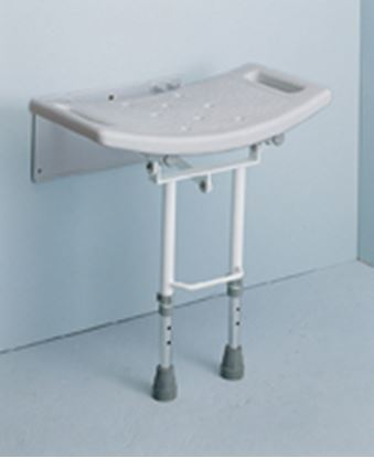 Picture of Wall Mounted Shower Seat with Drop Down legs