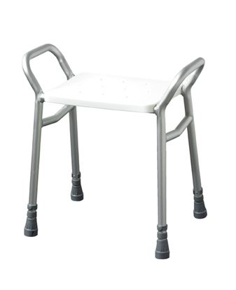 Picture of Lightweight adj height alum shower stool