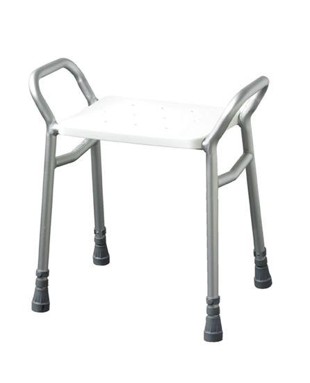 Picture of Lightweight adj height alum shower stool