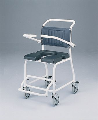 Picture of Attendant propelled gull wing commode and shower chair