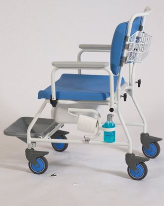 """Picture of Atlantic Bariatric commode and SC with Footrests (22"""")"""