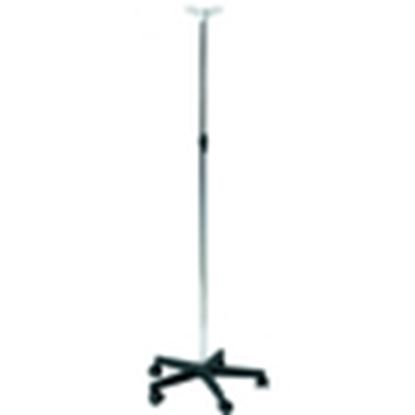 Picture of Chrome plated IV stand, Plastic base, 2 plastic hooks