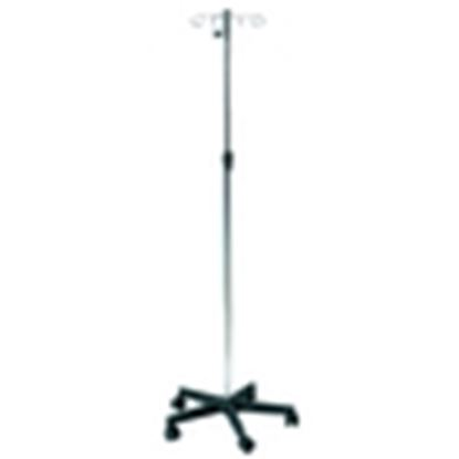 Picture of Chrome plated IV stand, Plastic base, 4 plastic hooks