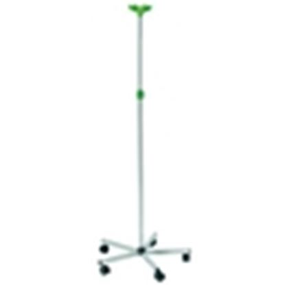 Picture of Stainless Steel IV stand, SS base, 4 plastic hooks