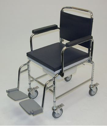 """Picture of Adj. Height H\Duty mobile commode 20""""(1)"""