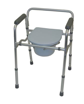 Picture of Folding commode chair and toilet surround