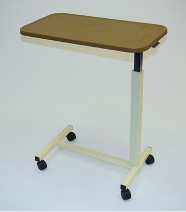 Picture of Overbed table with castors & ratchet handle adjustment