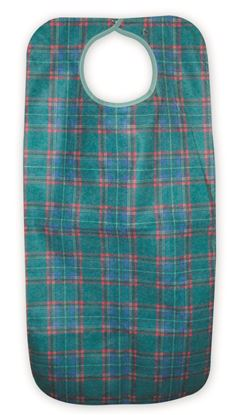 Picture of Adult apron 45x90cm snap closure - Green Stewart