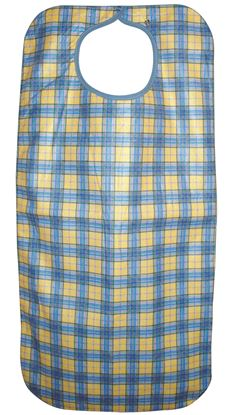 Picture of Adult apron 45x90cm snap closure - Yellow check