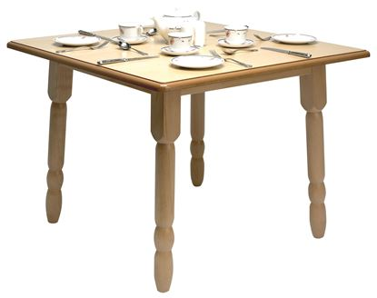 """Picture of Windsor Dining table 36"""" - Nat polish"""