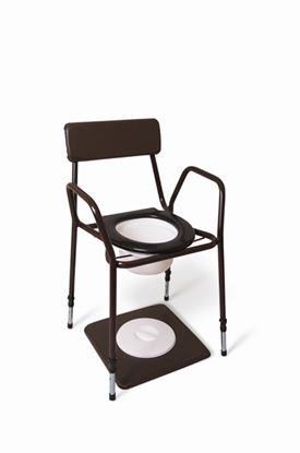 Picture of ADJUSTABLE HEIGHT Stacking Commode Chair