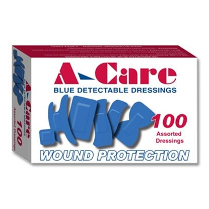 Picture of Assorted Blue Detectable Plasters (100)