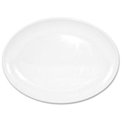 """Picture of Melamine Plate 9"""" (12)- Oval"""