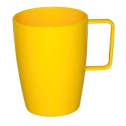 Picture of Polycarbonate Handled Beaker 10oz - Yellow (12)