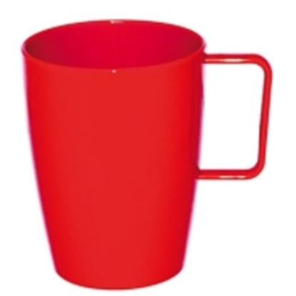 Picture of Polycarbonate Handled Beaker 10oz - Red (12)
