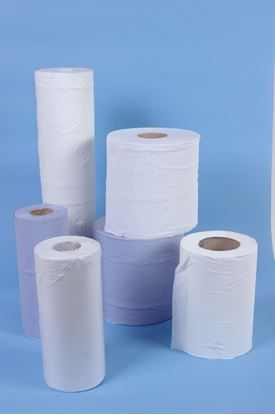 Picture of Hygiene Couch Roll 10inch x 100 Sheets - Blue ( 18 )