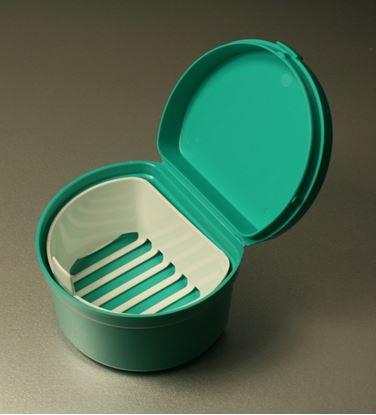 Picture of Reusable Denture Cup with Hinged Lid