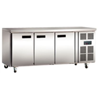 Picture of 3 Door Counter Freezer 417Ltr - Stainless Steel