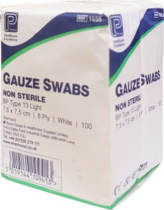 Picture of 8 ply Gauze Swabs (7.5 x 7.5cm)