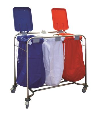 Picture of 3 Bag Stainless Steel Laundry Cart