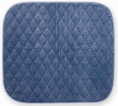 Picture of Velour Chairpad 40 x 50 - Blue