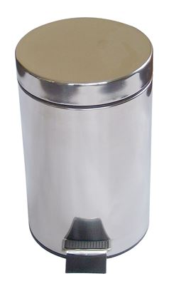 Picture of Steel Body Pedal Bin - 3L (Chrome Finish)