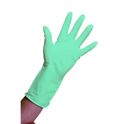 Picture of Rubber Domestic Gloves Green - Large (pr)
