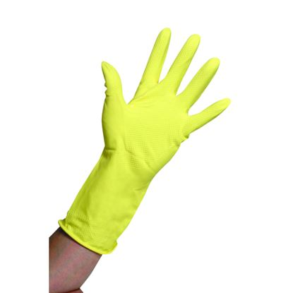Picture of Rubber Domestic Gloves Yellow - Medium (pr)