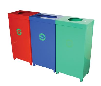 Picture of Recycling Bin - Red - 65Ltr