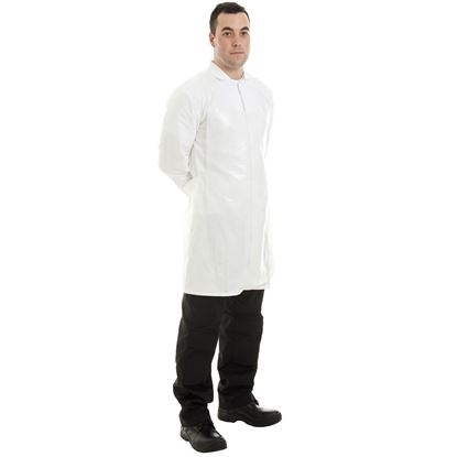 Picture of Supertouch Polythene Roll Apron -White (200)