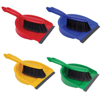 Picture of Dustpan and Brush Set - Red