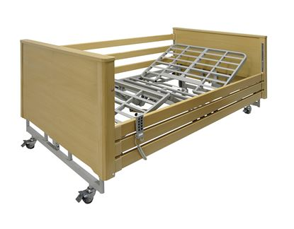 Picture of AGENA Bariatric Profiling Bed 1200mm Wide  - Light Oak Finish