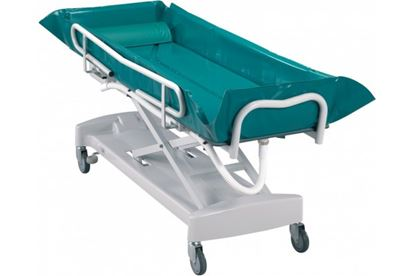 Picture of Adjustable hydraulic bed bath trolley