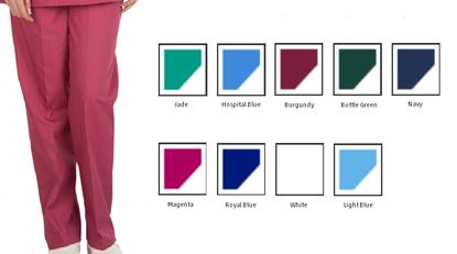 Picture of Scrub Trousers Polycotton - Burgundy