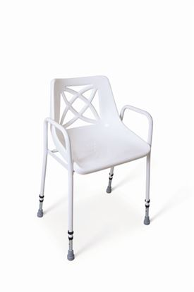 Picture of Andway Static Shower Chair with Adjustable Height Legs