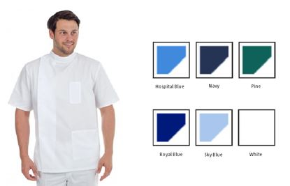 Picture of Side Stud Tunic Polycotton - Hospital Blue