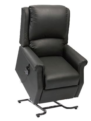 Picture of Chicago rise recline chair - Black Vinyl