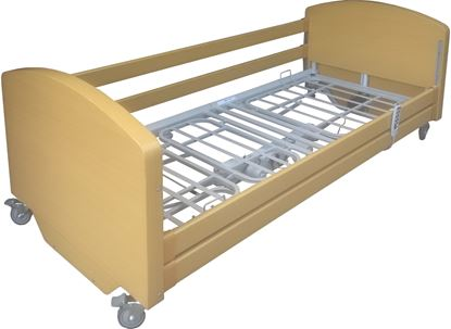 Picture of ELECTRA Profiling Bed with Siderails LIGHT OAK Finish