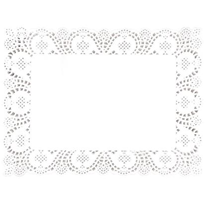 Picture of Fiesta Paper Doily Rectangular Tray Cover